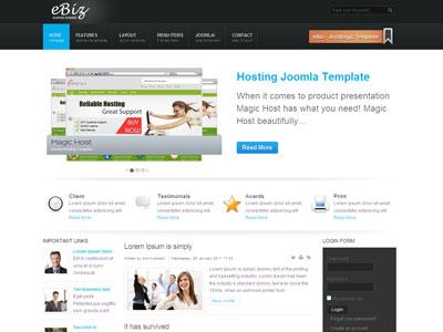 Magic eBiz Joomla Business Template