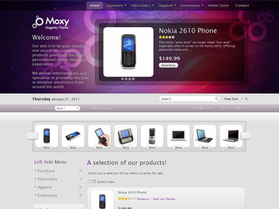 Moxy Magento eCommerce Store Template