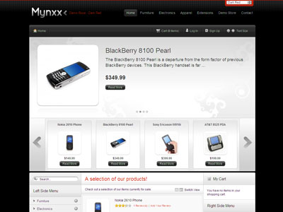 Mynxx Magento Electrical Store Template