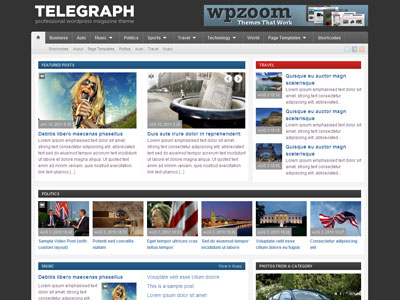 Telegraph WordPress Magazine Theme