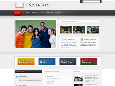 University PhpBB3 Style Template