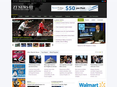 Free Newspaper Template Joomla Yeniscale