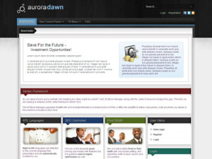 Aurora Dawn PhpBB3 Style Template for Business Forum, Personal Forum or Blog Forum