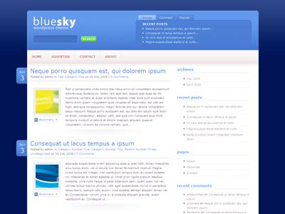 BlueSky WordPress Blog Theme