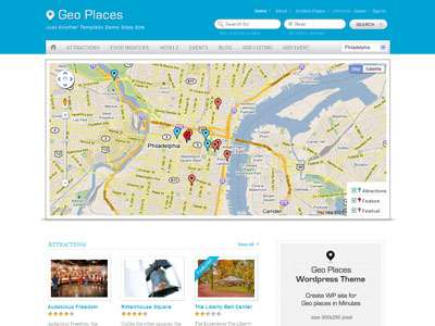 GeoPlaces V3 Theme | Wordpress City Directory Theme with Integrated ...