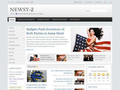 IT Newsy2 Joomla News Template