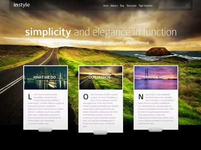 InStyle WordPress Rotating Background Images Theme