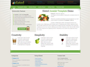 JS Elated Joomla 1.6 Coupon Template