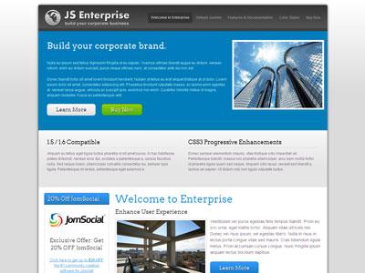 JS Enterprise Joomla 1.6 Business Template