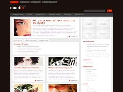 Quadro WordPress Blog Style Theme