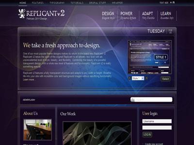 Replicant v2 Drupal Transparent Theme