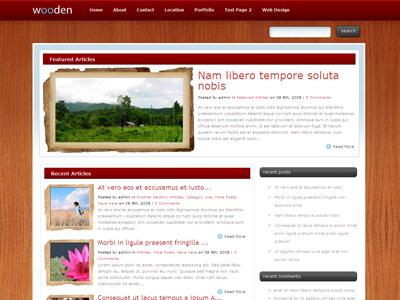 Wooden WordPress Blogging Theme