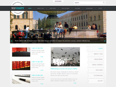 Youversity joomla template for university school college youversity joomla 16 education template maxwellsz