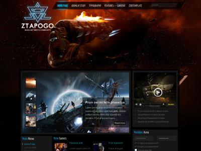 ZT Apogo Joomla Social Gaming Template