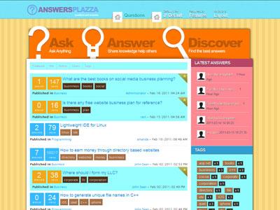Answers Plazza Joomla Yahoo Template