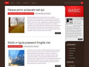 Basic Wordpress Traditional Blog Style Theme