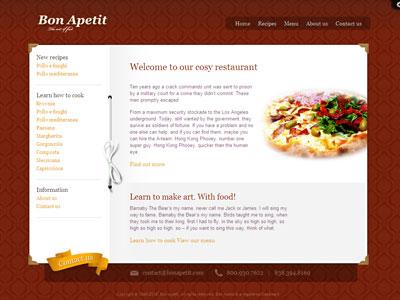 Bon Apetit WordPress Coffee Shop Theme