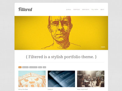 Filtered WordPress Portfolio Management Theme