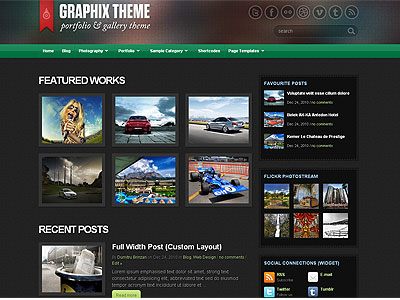 Graphix WordPress Portfolio Theme