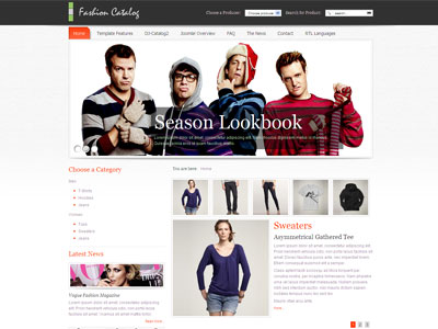 JM Fashion Catalog Joomla Store Template