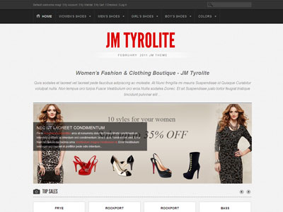 JM Tyrolite Magento Clothing Store Theme