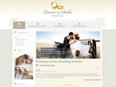 JM Wedding04 Joomla Marriage Template