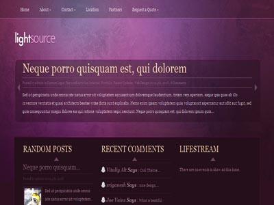 LightSource WordPress Personal Bloggers Theme