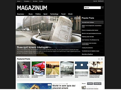 Magazinum WordPress Fashion Celebrities Theme