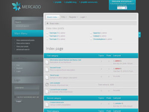 Mercado phpBB3 Style Theme | phpBB Community Builder Theme for phpBB Blog