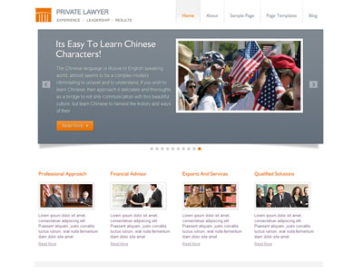 Private Lawyer WordPress Leadership Theme