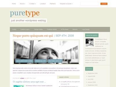 PureType WordPress Personal Blog Theme