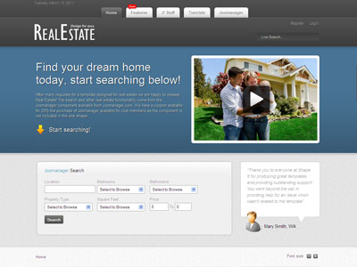 Real Estate Joomla Template for Listing Buying & Selling Home, Cars ...