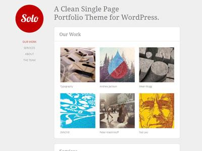 Solo WordPress Single Page Portfolio Theme