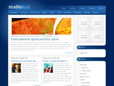 StudioBlue WordPress Blogging Theme