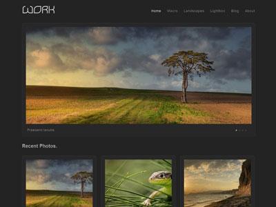 Work WordPress Photos Showcase Theme