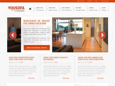 Yousofa Joomla Furniture Template