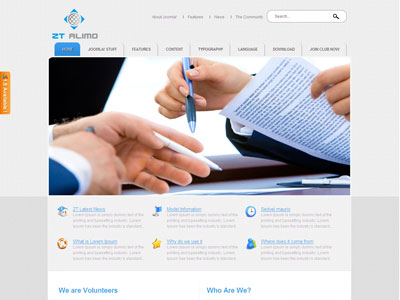 ZT Alimo Joomla Corporate Template for Business Portfolio