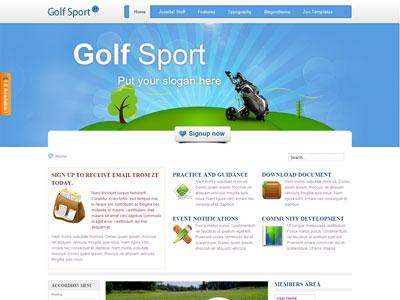 ZT Golf Sport Joomla Template
