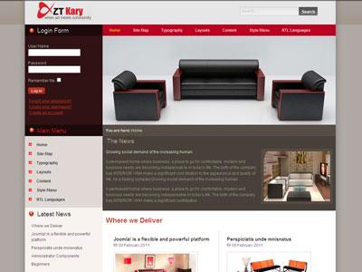 ZT Kary Joomla Furniture Template