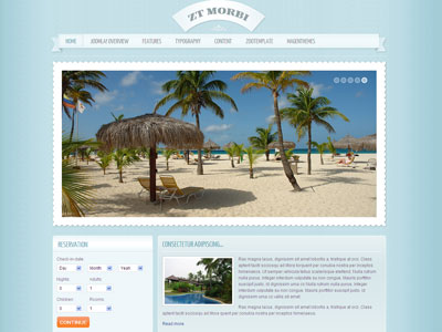 ZT Morbi Joomla Holiday Destinations Template