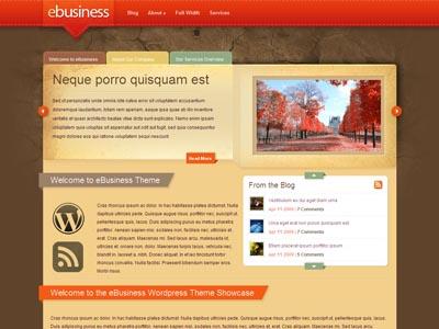 eBusiness WordPress Blog Style Theme