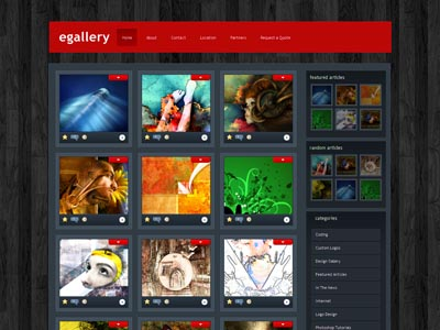 eGallery WordPress Image Gallery Theme
