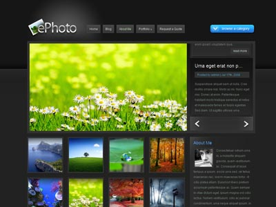 ePhoto WordPress Photo Gallery Theme