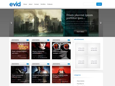 eVid Theme | Wordpress Video Bloggers Theme like YouTube, Vimeo ...