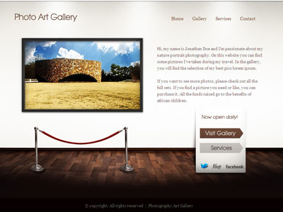 Art Gallery WordPress Portfolio Showcase Theme