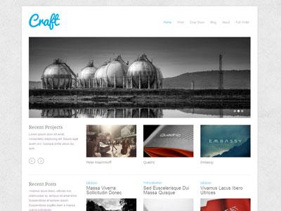Craft WordPress Portfolio Blog Theme