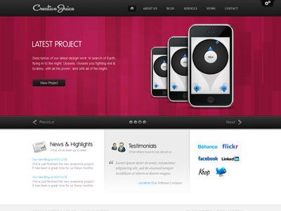 Creative Juice WordPress Web Design Theme