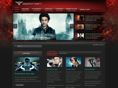 Dominion Drupal Movie Showcase Theme