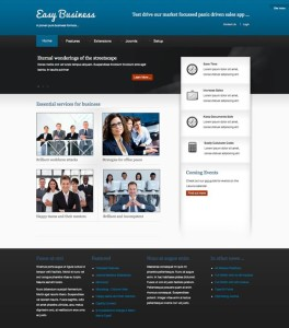 Upcoming Easy Business Joomla Template from JoomlaBamboo