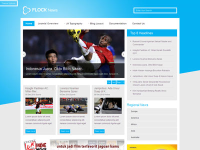 Flock News Joomla Sport Template